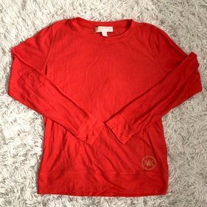 Michael kors orange long sleeve shirt